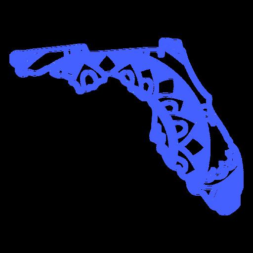 Florida state mandala map stroke