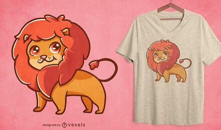 Cute lion t-shirt design