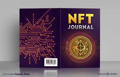Design da capa do livro do jornal NFT