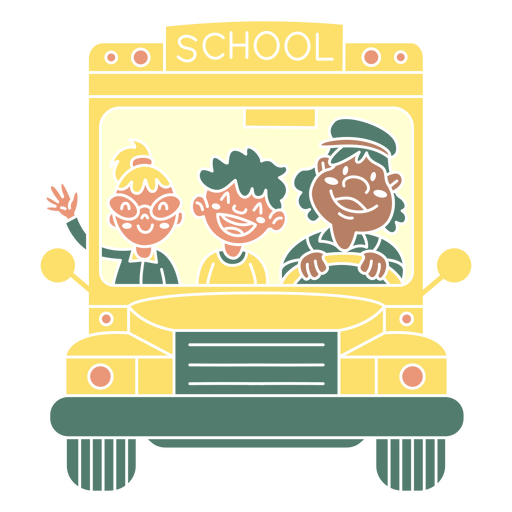 kids school bus cut out
