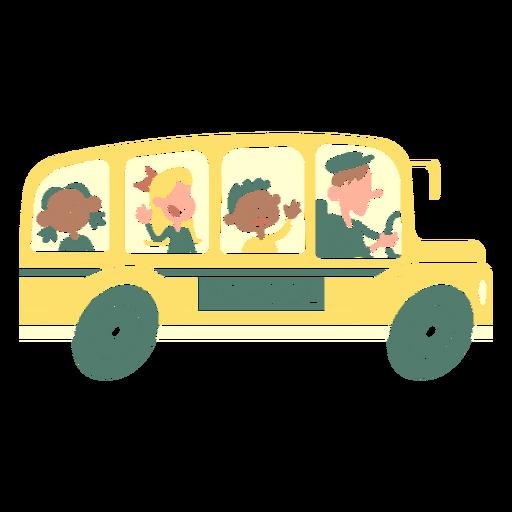 kids school bus side cut out