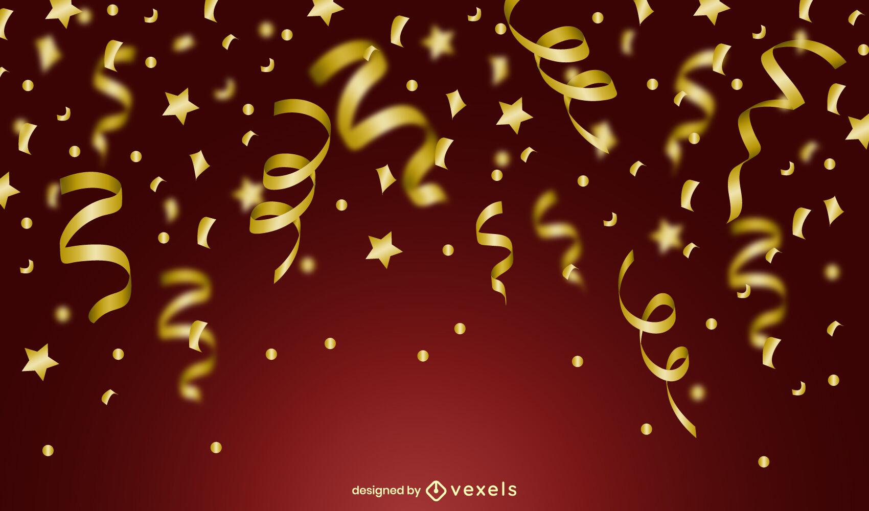 Diseño de fondo de celebración de confeti
