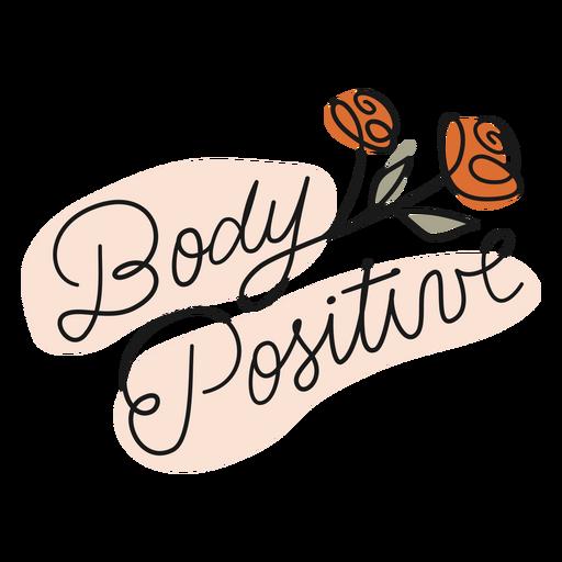 Body positive color stroke badge