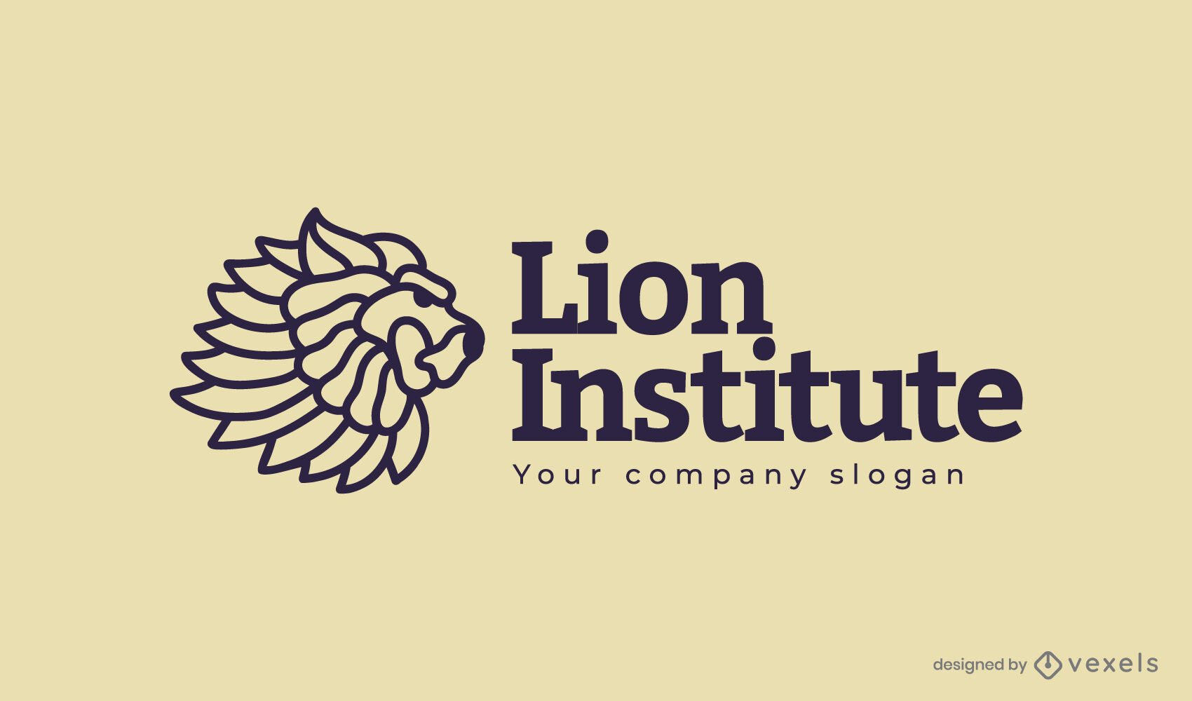 Design des Tierlogos des Lion Institute