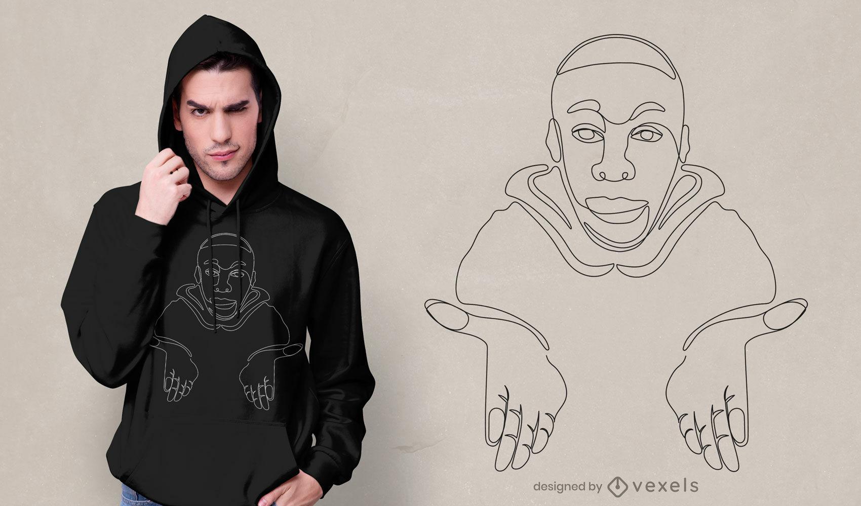 Diseño de camiseta de meme de reacción inexpresiva