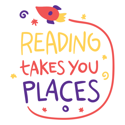 Reading takes you places flat