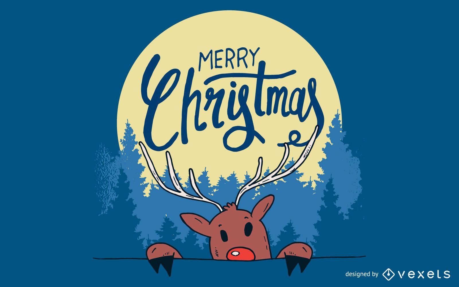 Ilustraci?n de renos de Navidad