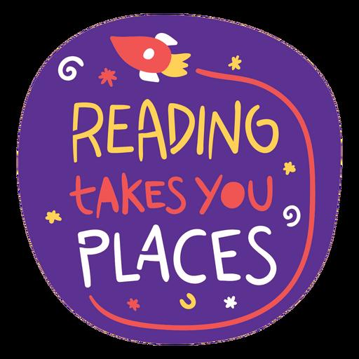 Flying rocket reading badge