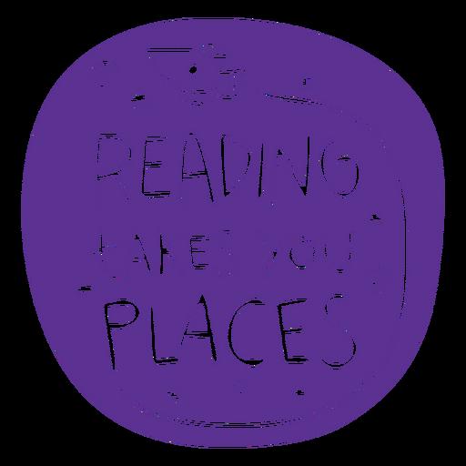 Space rocket reading badge