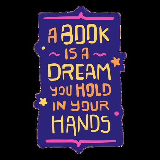 Reading books hobby flat badge
