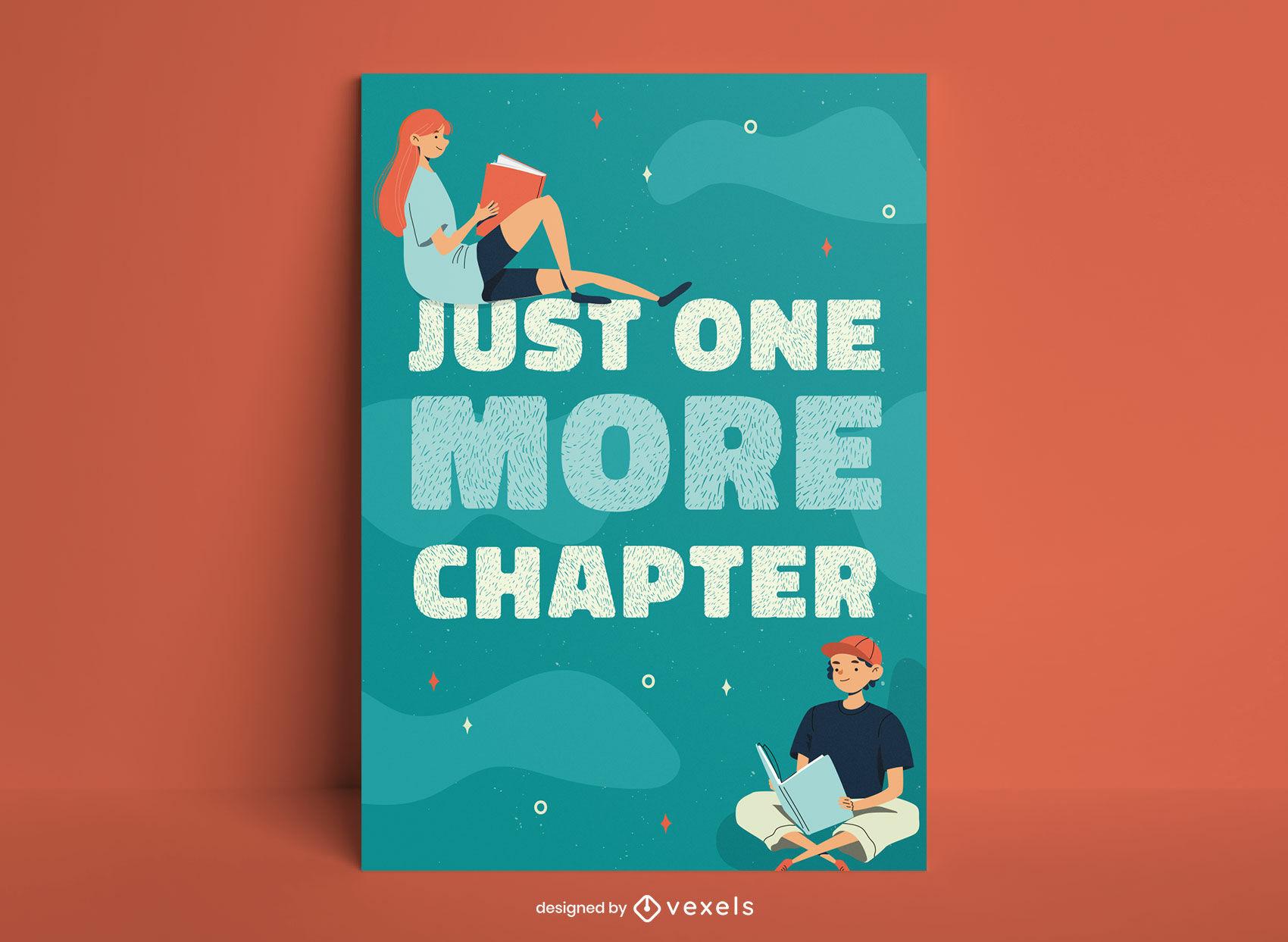 Leitura de hobby capítulo citação cartaz design