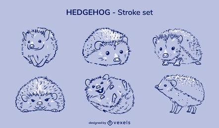 Hedgehog pet stroke set