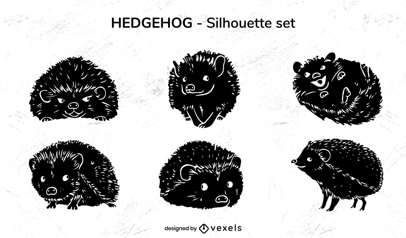 Hedgehog pet animal cute cut out set