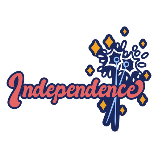 Independence color stroke badge