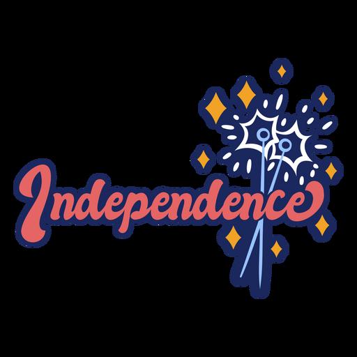 Insignia de trazo de color de independencia