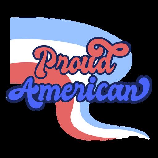 Proud american color stroke