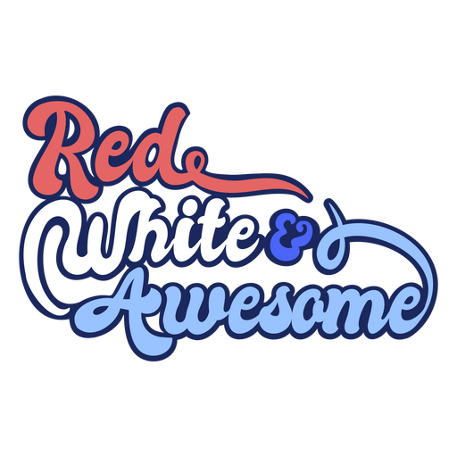 Red white and awesome color stroke