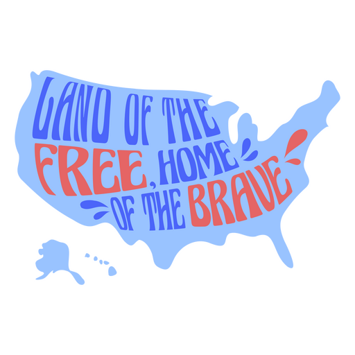 Land of the free home of the brave flat badge