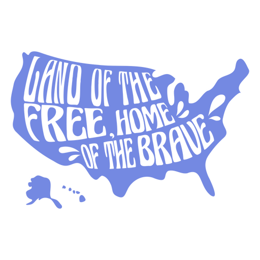 Land of the free cut out badge