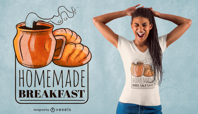 Homemade breakfast tasty t-shirt design