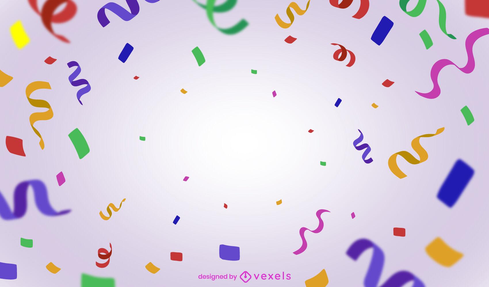 Diseño de fondo colorido de confeti de fiesta