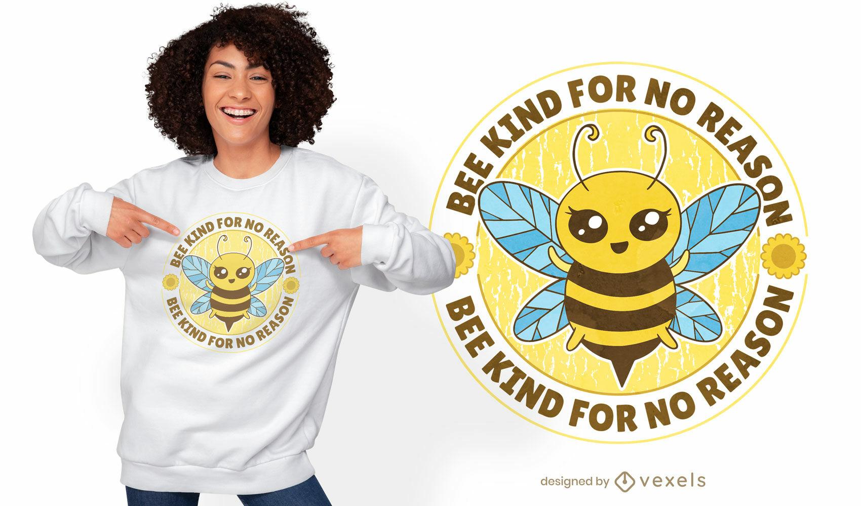 Diseño de camiseta tipo abeja.