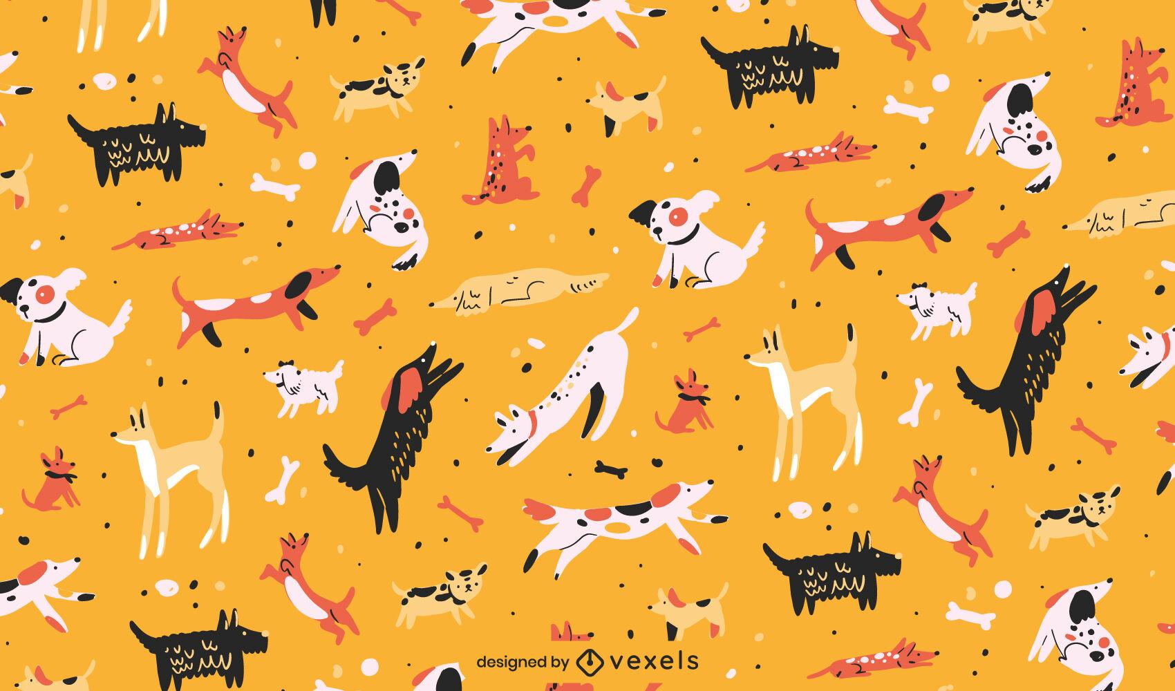 Diseño de patrón animal de mascotas de raza de perro
