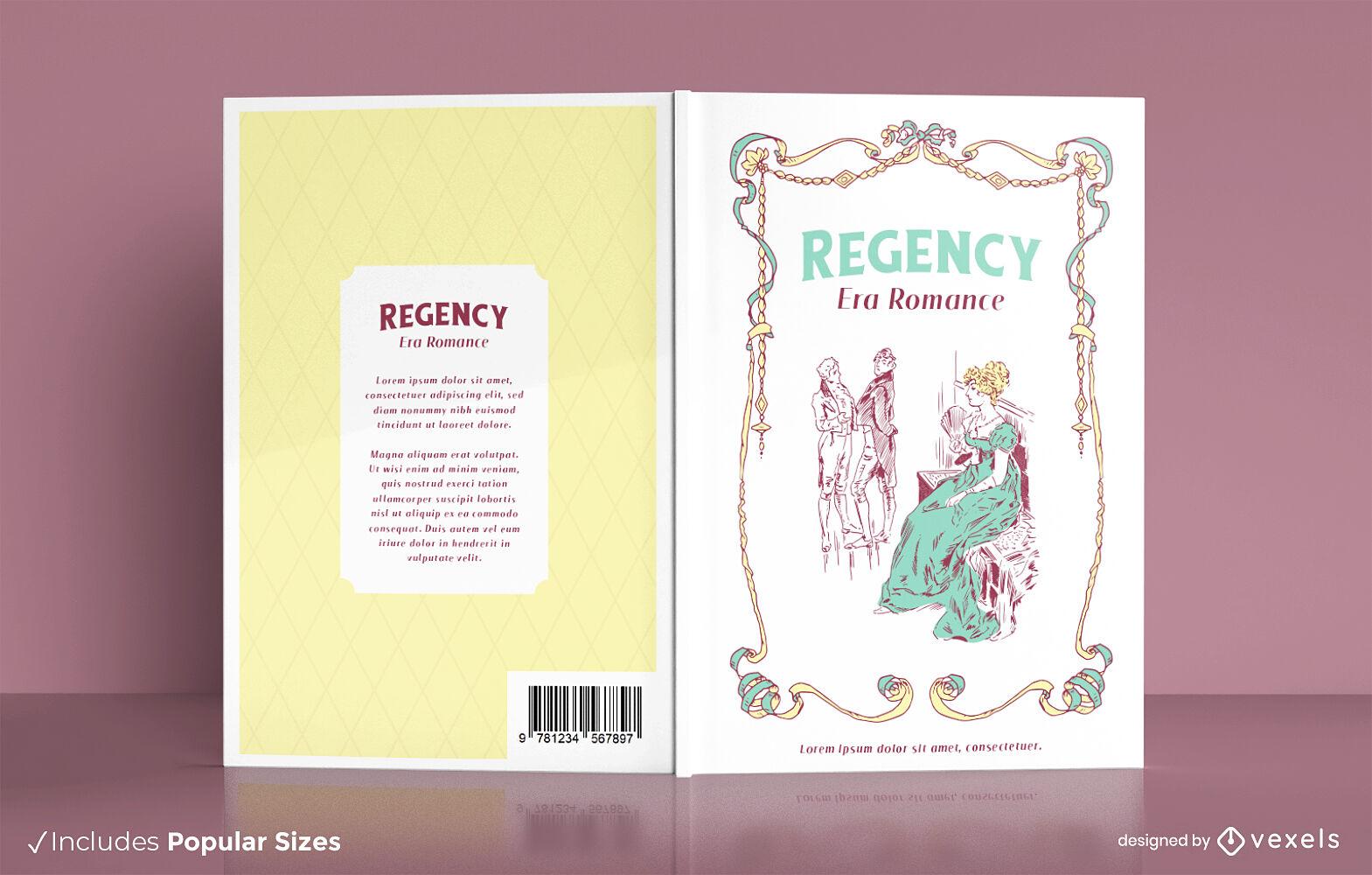 Diseño de portada de libro romance