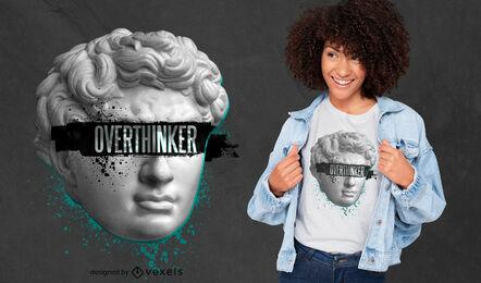 Overthinker statue PSD t-shirt