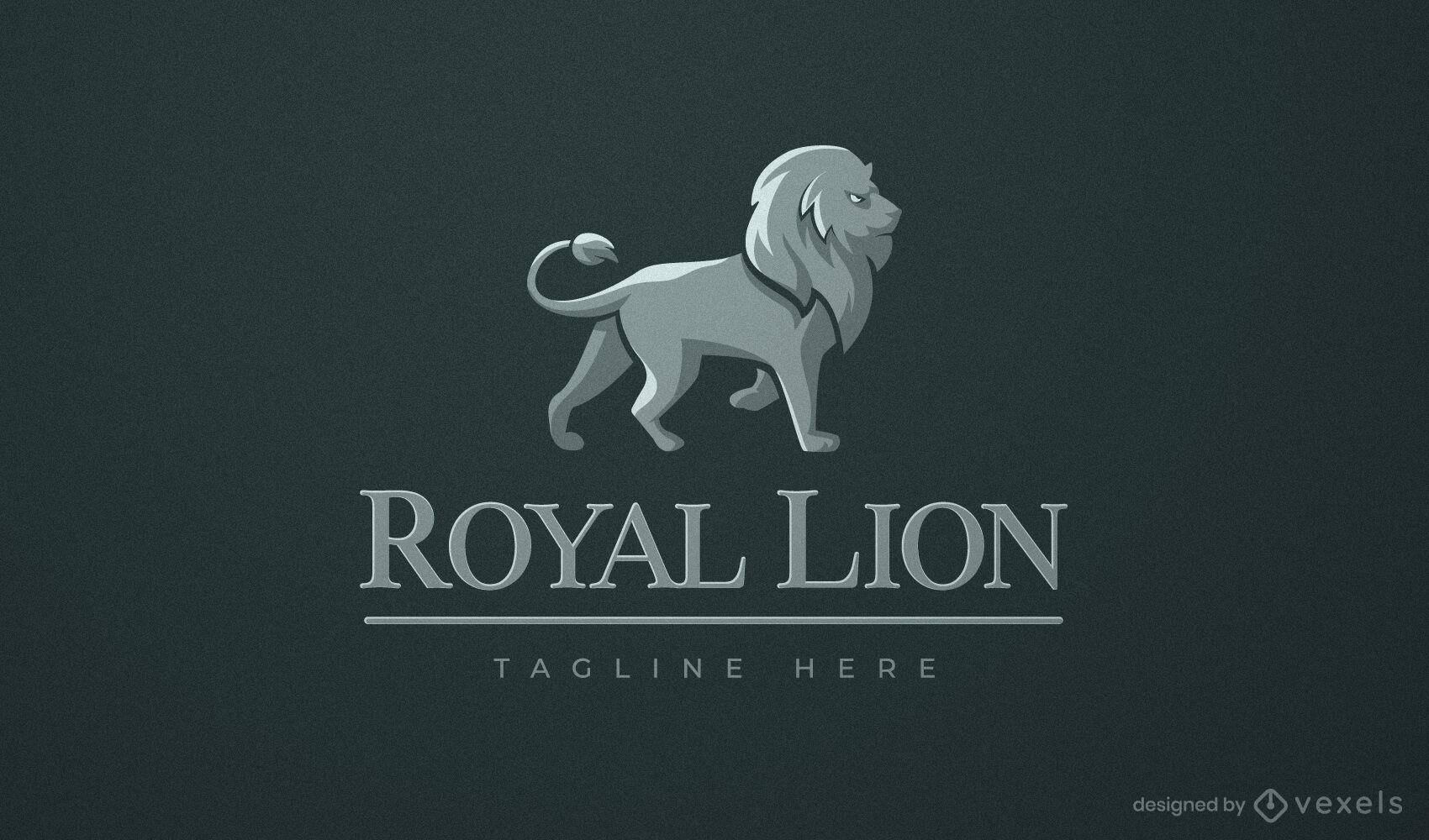 Design de logotipo comercial de animal selvagem de le?o