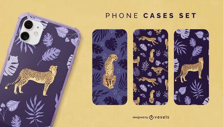 Cheetah in nature phone case set