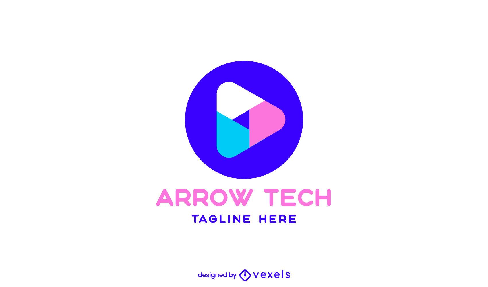 Logo-Design mit abstrakter geometrischer Form