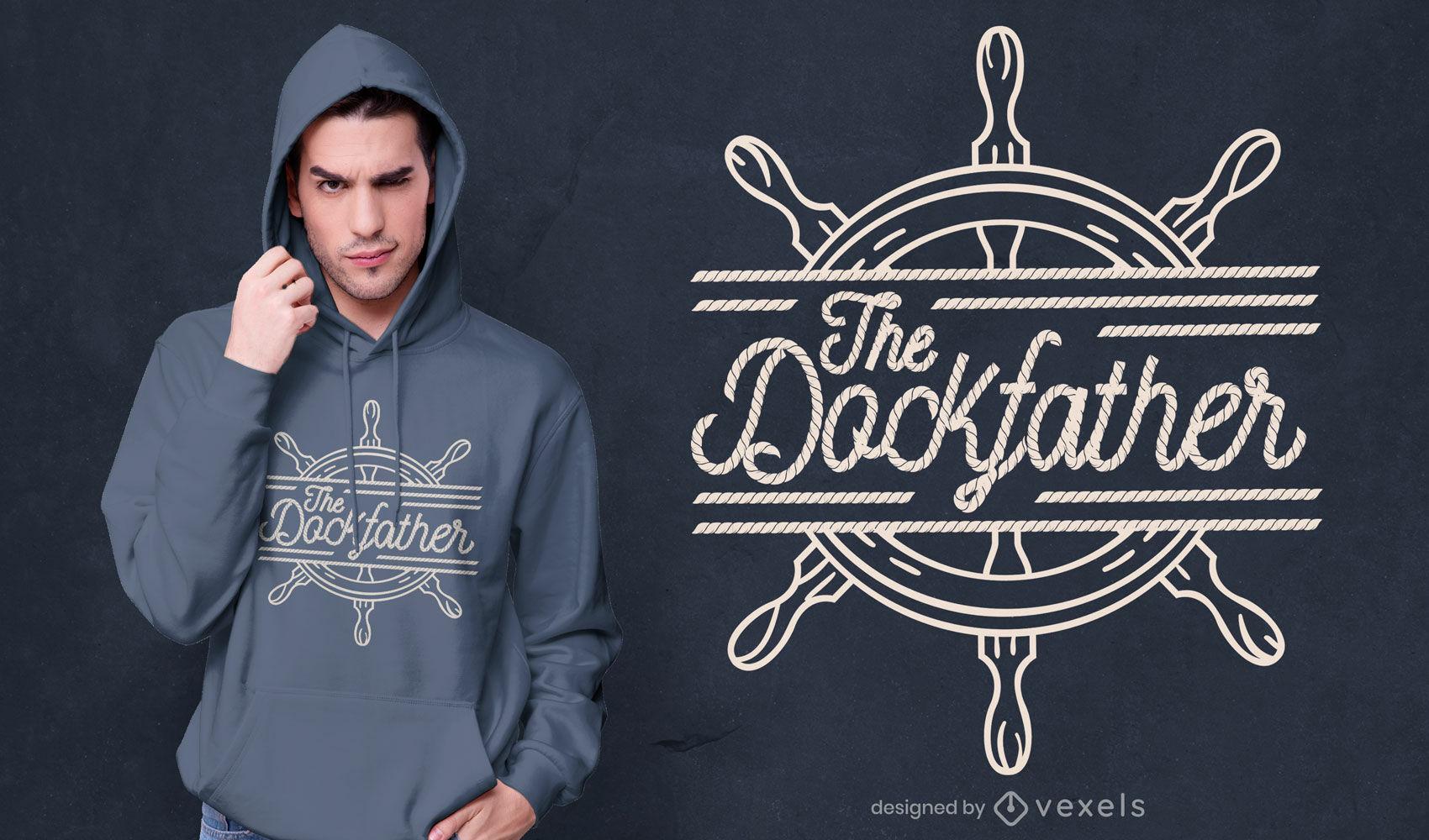The dockfather t-shirt design
