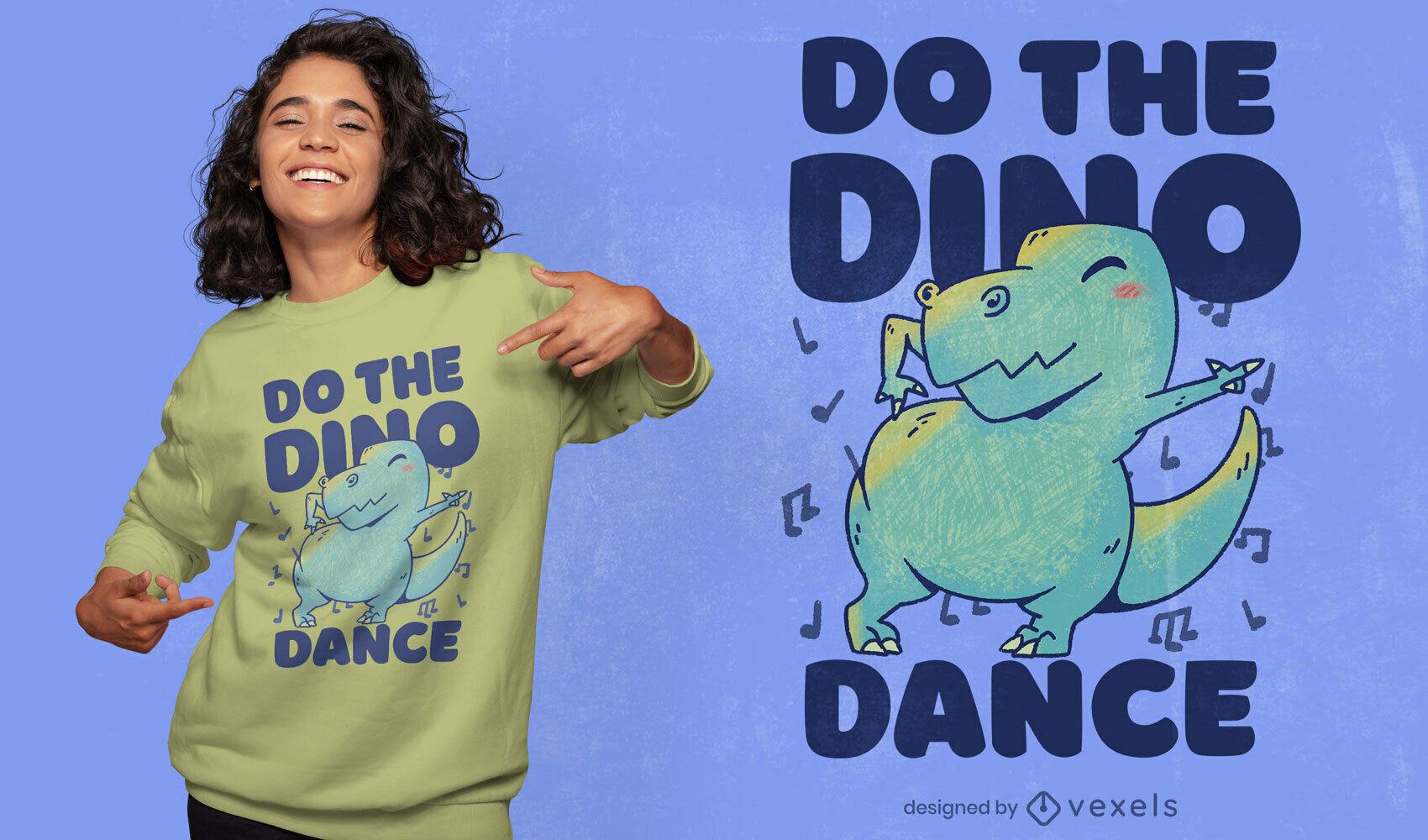 Dino dance PSD t-shirt design