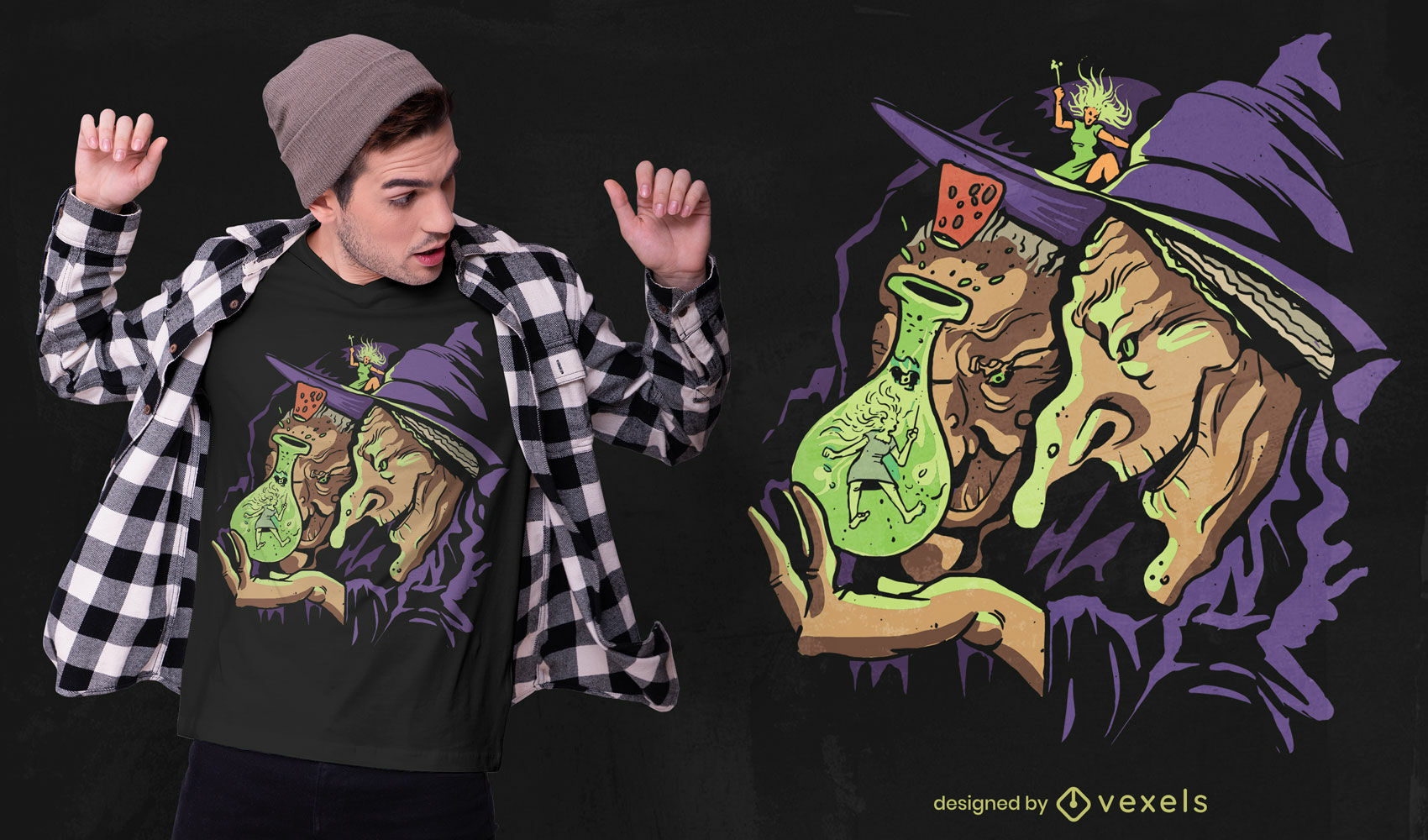 Old witches magic potion t-shirt design