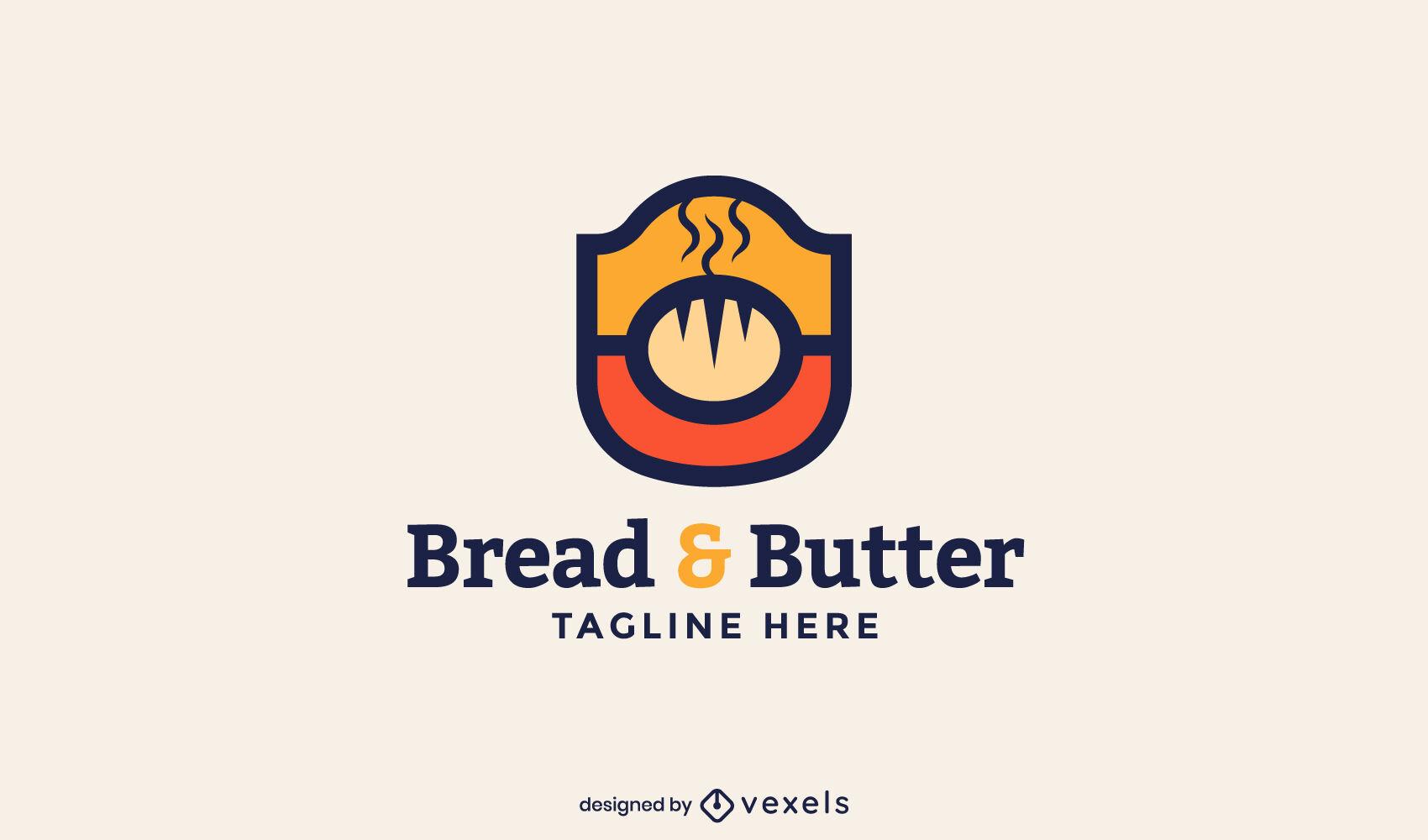 Komplettes Branding-Kit für das Logo der Brotbäckerei