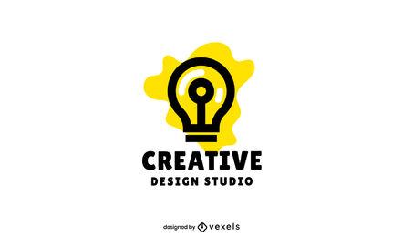 Lightbulb stroke business logo design