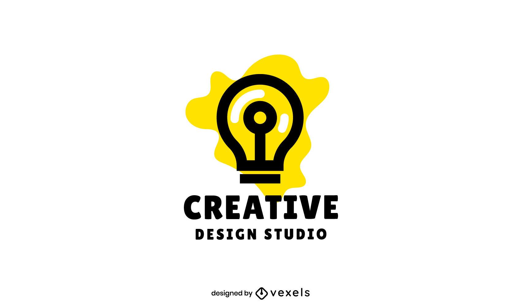 Diseño de logotipo de empresa de trazo de bombilla