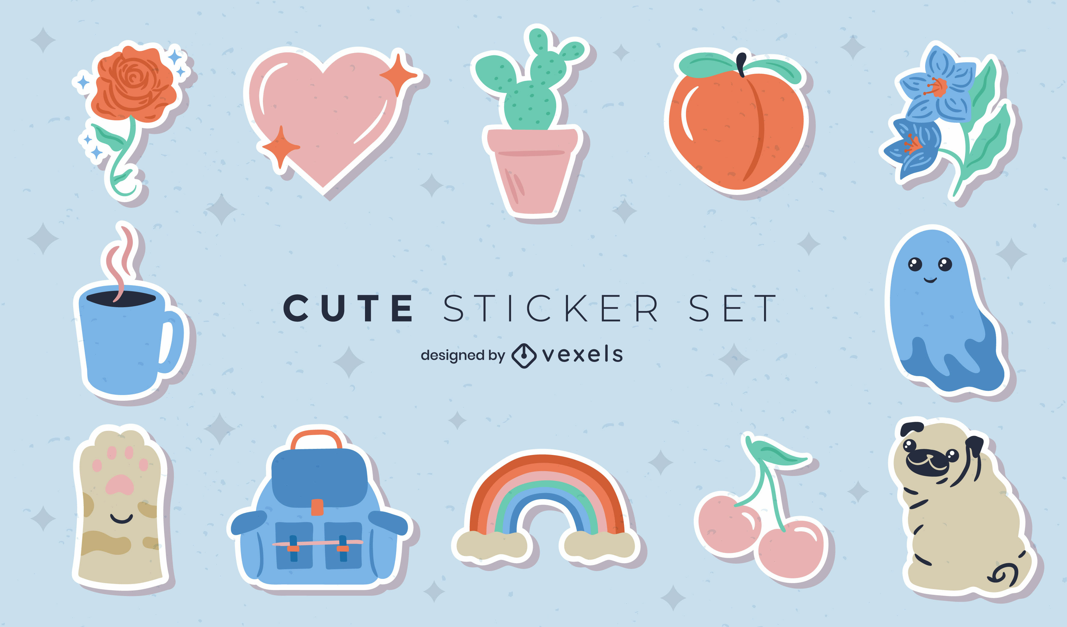 Lovely stickers set
