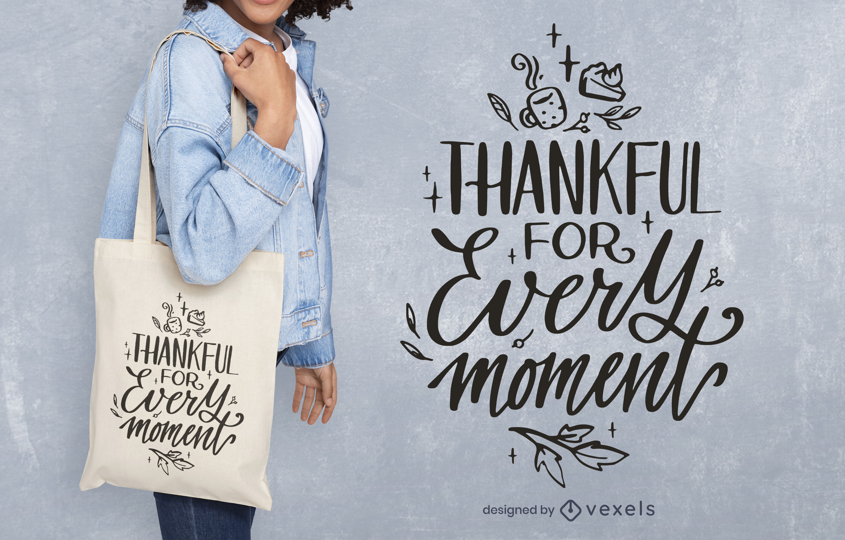 Thankful quote thanksgiving tote bag