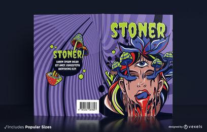Psychedelic hallucinations book cover design
