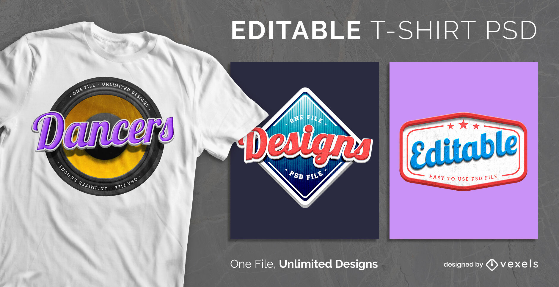 Retro badges logo scalable t-shirt psd
