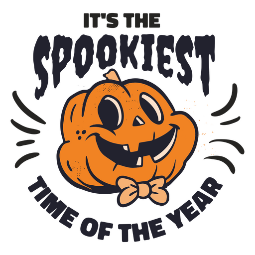 Its spookiest time of the year badge