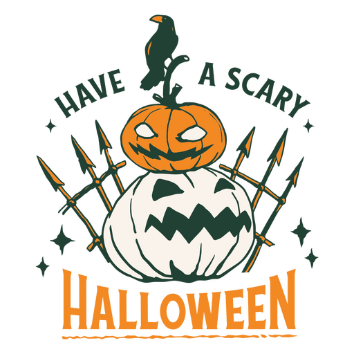 Have a scary halloween badge