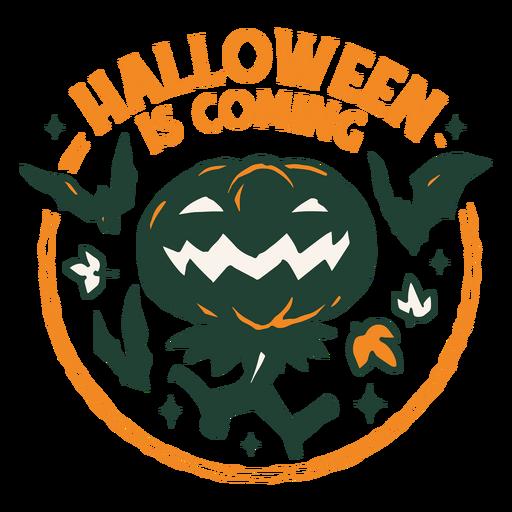 Halloween jack o lantern badge