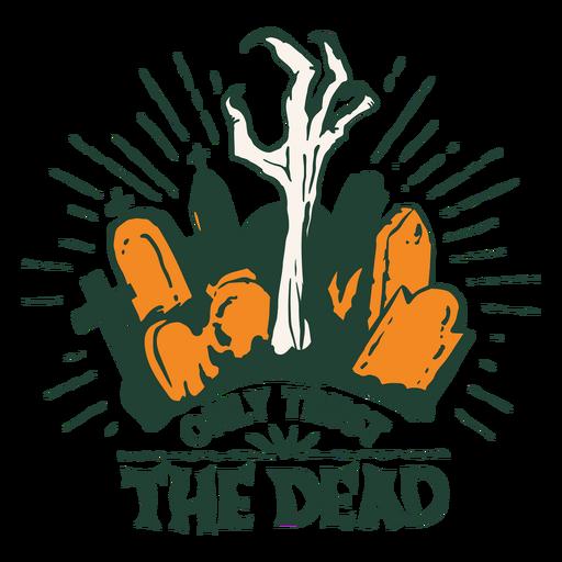 Halloween graveyard badge