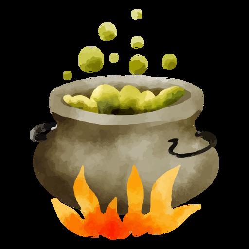 Cauldron watercolor