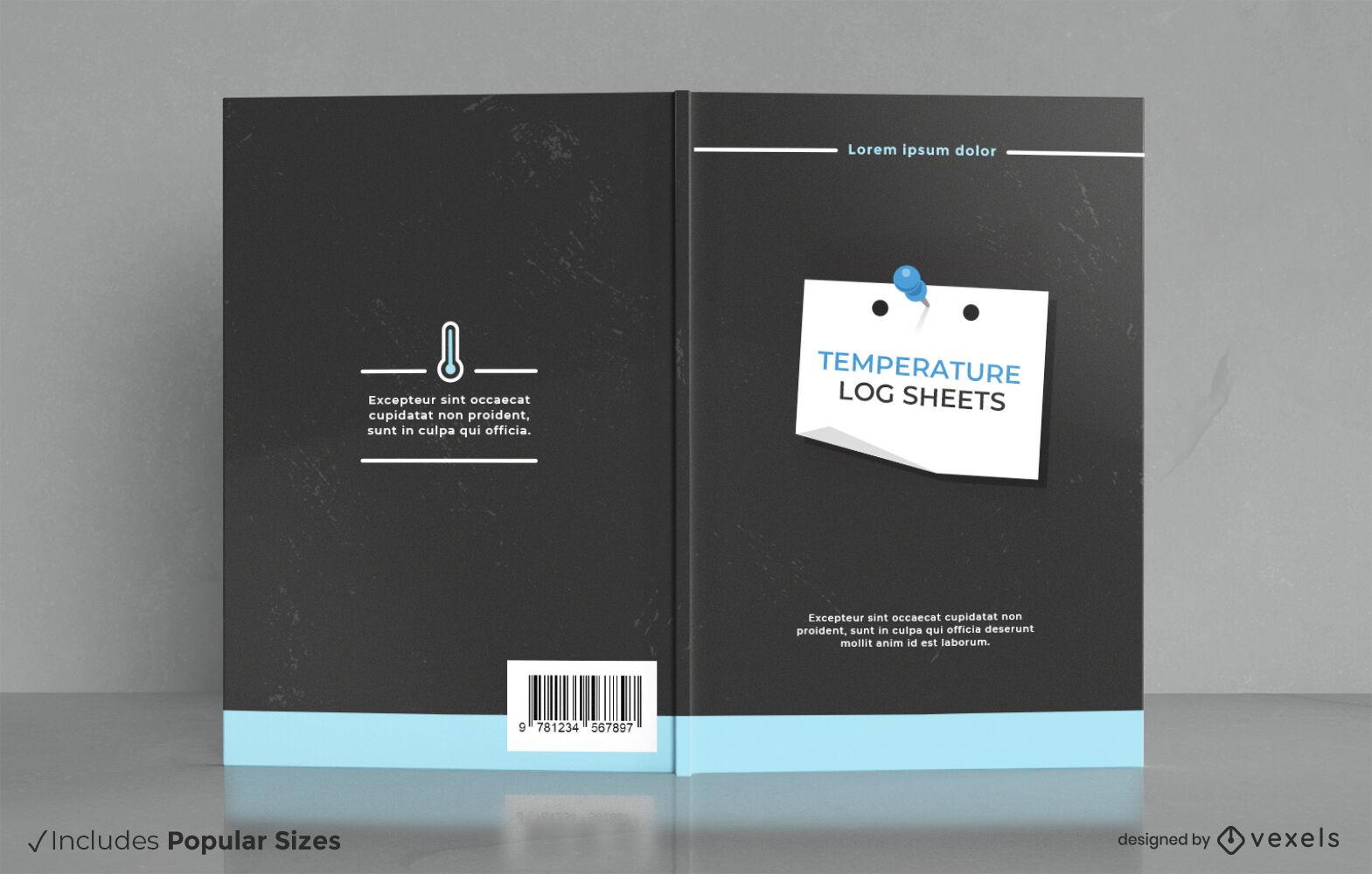 Design da capa do livro da folha de registro de temperatura