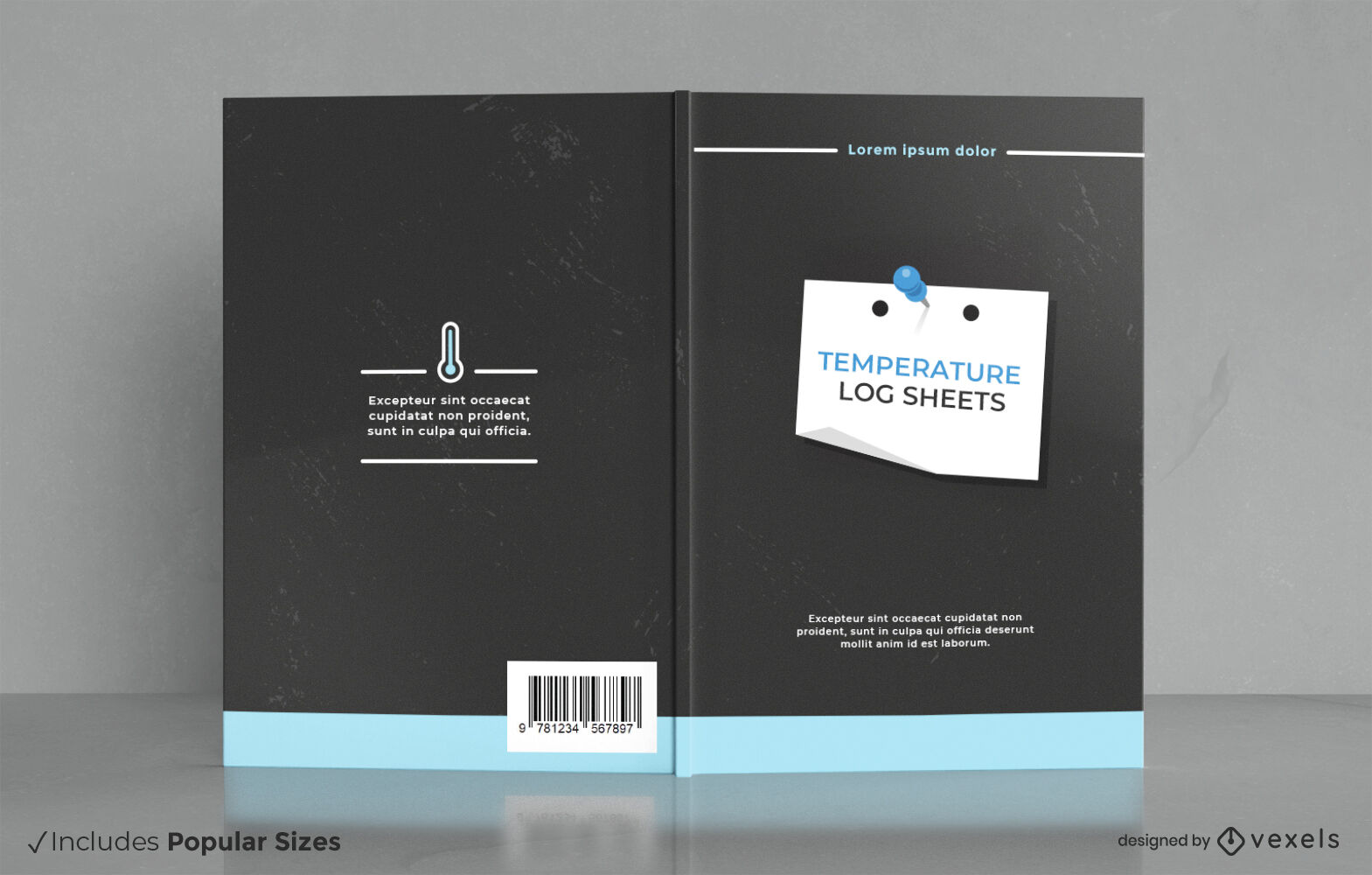 Design des Temperatur-Log-Blatt-Buchdeckels