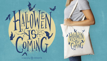 Halloween is coming lettering throw pillow